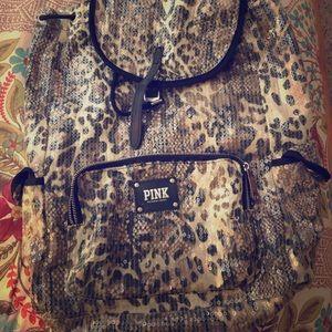 PINK Victoria's Secret Bags - PINK cheetah print backpack